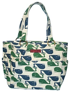 Bungalow360 Canvas Pocket Bag - Whales