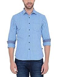 IDENTITI Men's Blue Casual Shirt