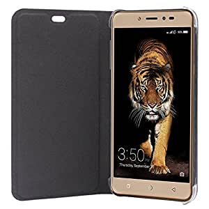 SDO™ Designer Leather Genuine Flip Cover for Coolpad Note 5 (Black)