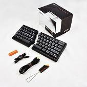MiSTEL BAROCCO MD600 分離式 メカニカルキーボード 英語配列 62キー CHERRY 赤軸 PBTキーキャップ ブラック MD600-RUSPLGAA1