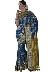 Anvika Women's Silk Saree (110000000073, Blue)