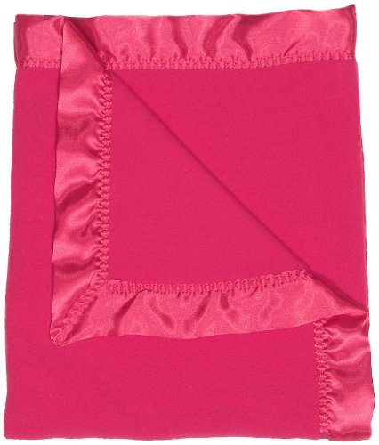 Raindrops Fleece Girl Receiving Blanket, Raspberry