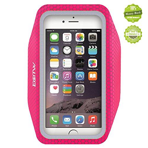 iPhone6アームバンドケース 厚さ僅か2mmの超薄型,EOTW iPhone6 / 6S 4.7インチ スポーツアームバンド ランニング スマホケース 防水 超軽量 キーポケット付 (ピンク)