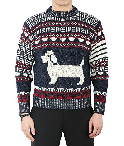 wiberlux-thom-browne-mens-dog-pattern-woolen-knit-sweater-2-navy