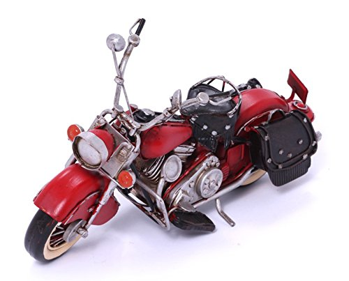 Model Motorcycle - Indian red - Retro Tin Model