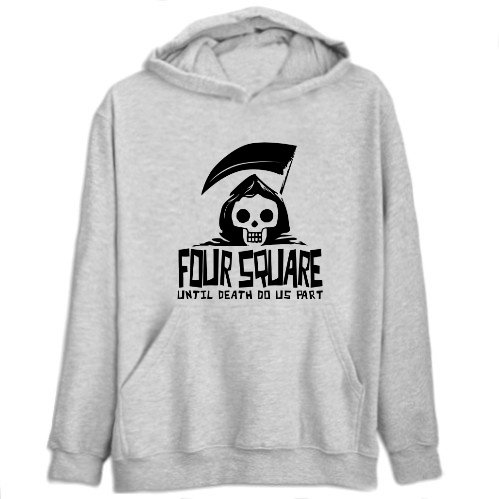 Four Square Until Death Separate Us Mens Hoodie