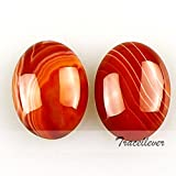 5Pcs 20mm Oval flatback Cabochon CAB Kinds Ring Face Jasper Gemstone Red agate