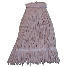 Zephyr Shineup 4-Ply Cotton Screwflat Cut End Mop Head with Fantail (Pack of 12)