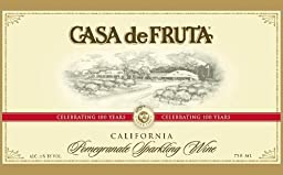2014 Casa de Fruta Pomegranate Sparkling Wine 750 Ml