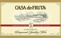 2014 Casa de Fruta Pomegranate Sparkling Wine 750 Ml