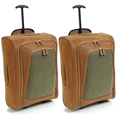 Karabar Set of 2 Cabin Approved Wheeled Bags - 3 Years Warranty!