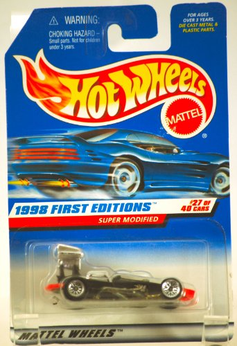 1998 - Mattel / Hot Wheels - Super Modified (Black) - 1998 First Editions #27 of 40 Cars - Collector #664 - MOC - Out of Production - Collectible - 1