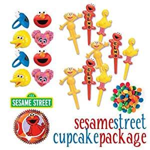 Click to buy Sesame Street Cakes Cupcakes - Do-It-Yourself Cupcake Package 15 - 68 Total Piecesfrom Amazon!