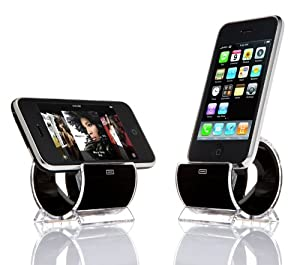 Cyanics Sinjimoru Sync and Charge Dock Stand for iPhone 4S, 4, 3GS-Black