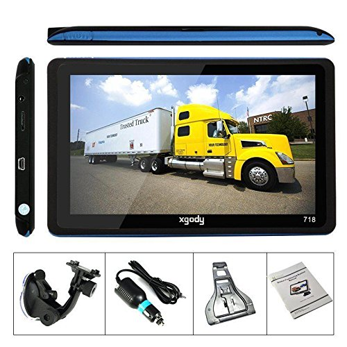 XGODY 7″ Portable Car& Truck GPS Navigation Sat Nav Navigator Speed Cam new map
