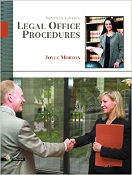 Legal office procedures 7th edition joyce morton ed d 9780132209564 books - Procedure hospitalisation d office ...