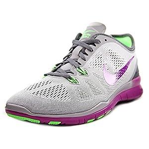 Nike Women's Free 5.0 Tr Fit 5 Wlf Gry/Vvd Prpl/Vltg Grn/Drk Training Shoe 7.5 Women US