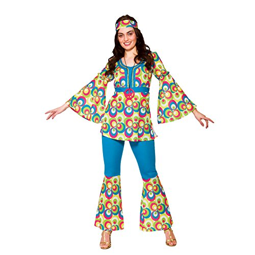 Funky Hippy Chick Adult Costume Lady XXL 26-28