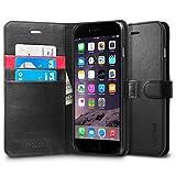 iPhone 6 Plus ケース, Spigen® [ スタンド機能 ] ウォレット S レザー 手帳型 ケース Apple iPhone (5.5) アイフォン 6 プラス カバー (国内正規品) (ブラック 【SGP10918】)