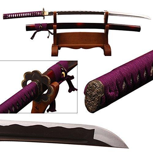 Shijian Katana Fully Hand Forged Carbon Steel sharp Edge Japanese Samurai Sword (Samurai Edge compare prices)