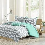 Intelligent Design ID10-232 Nadia Comforter Set Full/Queen Teal,Full/Queen