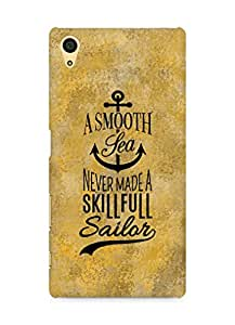 Amez A Smooth Sea Never made a Skillful Sailor Back Cover For Sony Xperia Z5