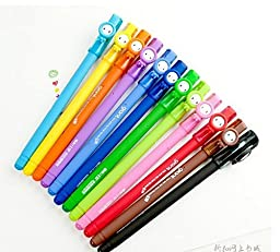 12 Pcs/lot New Cute Kawaii Cartoon Korea Gel Pen Set Colorful Ink Stationery School Supplie Creative Gift