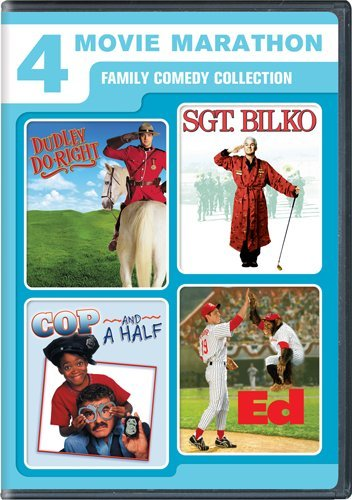 Cover art for  4 Movie Marathon: Family Comedy Collection (Dudley Do-Right / Sgt. Bilko / Cop and a Half / Ed)