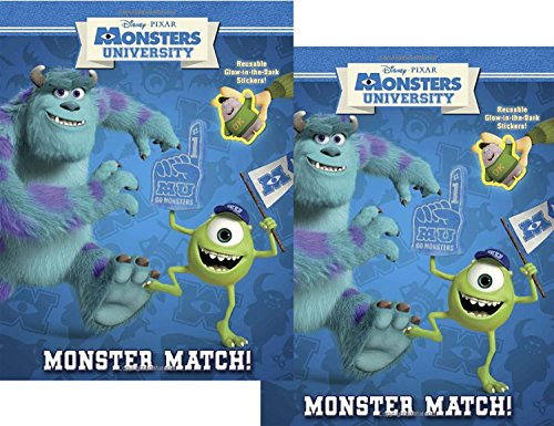 "Monsters University Reusable Glow in the Dark Sticker Book ""Monster Match"" (2 PacK) - 1"