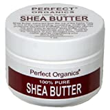 Perfect Organics Shea Butter, 100% Pure, 1-Ounce Jars (Pack of 2)