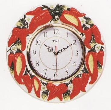 Chili Pepper 3-D Wall Clock
