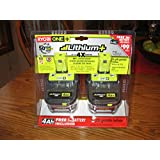 Ryobi P122 ONE+ 18-Volt Lithium Plus High Capacity 4-Ah Battery (P108 2pk retail package)