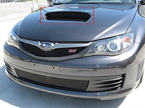 2008-2012 SUBARU IMPREZA WRX STI - HOOD SCOOP GRILLE (Gloss Black Finish) (2014 Wrx Grill compare prices)