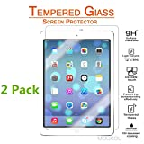 iPad Pro 9.7 Inch / iPad Air / iPad Air 2 Screen Protector Glass 2 Pack, MouKou 0.33m 2.5D Round Edge Tempered Glass Screen Protector for Apple iPad Air 2, iPad Air, iPad Pro 9.7inch