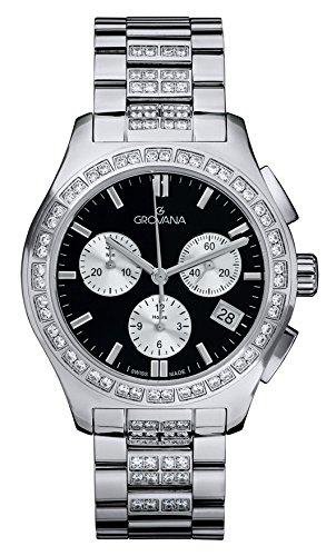 GROVANA - 5096.9737 - Montre Mixte - Quartz - Chronographe - Bracelet Acier Inoxydable Argent