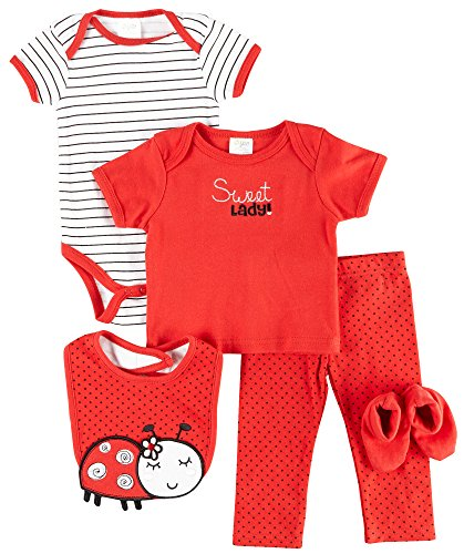 Baby Gear Baby Girls 5-pc. Ladybug Layette Set