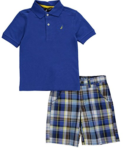 "Nautica Little Boys' Toddler ""Dune Grass"" 2-Piece Outfit - blue, 2t"