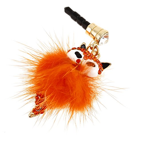 HSL Orange color Fox Anti Dust& Damp proofing plug for Apple iPhone 5 5S,iPhone 4 4s ,iPad Samsung S3 S4 Note3 Note 2 and other 3.5mm Earphone and Jack phones (Dust Plugs For Phones compare prices)