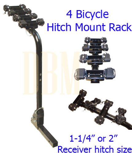 4 Bikes Foldable Bicycle Hitch Car Mount Rack Carrier 1-1/4