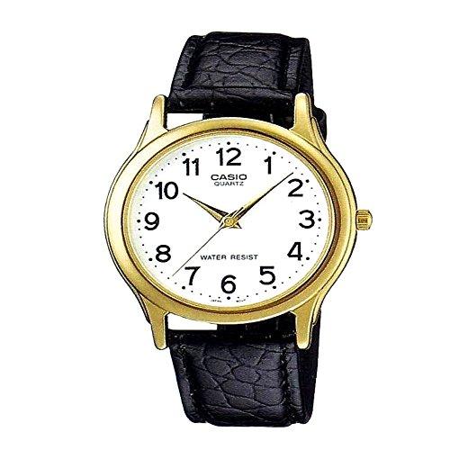 CASIO MTP-1093Q-7B - Reloj con movimiento cuarzo, para mujer, color blanco y negro