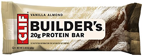 Clif Bar, Builder Bar, Vanilla Almond, 2.4 oz (Cliff Bars Builder Bars compare prices)