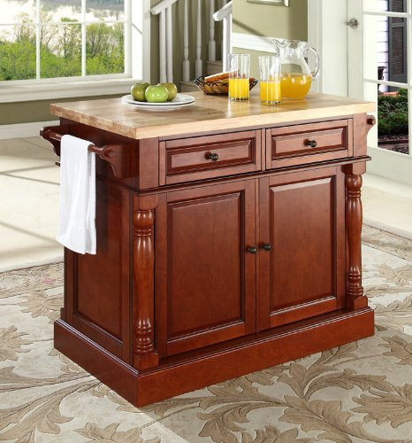 Buy crosley furniture butcher block top kitchen island for Best place to buy kitchen island