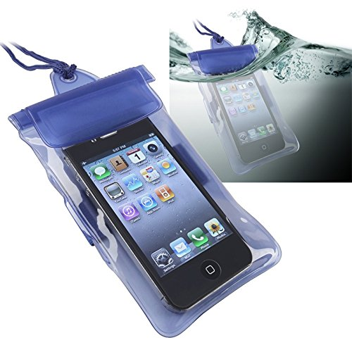 eForCity® Waterproof Bag Case for Cell Phone / PDA, Blue