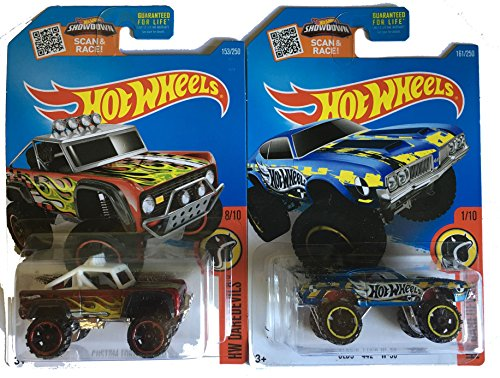 Hot Wheels 2016 Olds 442 W-30 & Custom Ford Bronco (Fire Truck Walker compare prices)