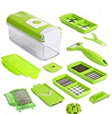Allure Maek Multi Vegetable Chopper,12 sets Vegetable Cutting tool, Slicer ,Cutter, Food Chopper, Dicer