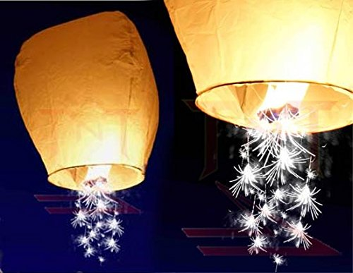 10pc White Shooting Star Sky Lanterns, The Original from TnT Sales