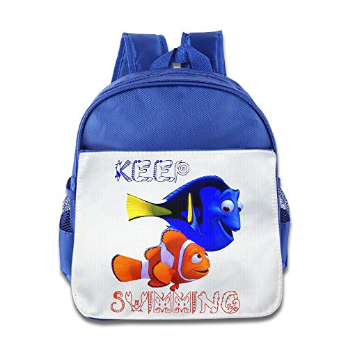 Jade Custom Funny Finding Dory Kids School Backpack For 1-6 Years Old RoyalBlue