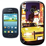 Fancy A Snuggle Yellow Taxi Cab in New York Times Square USA Design Hard Case Clip On Back Cover for Samsung Galaxy Fame S6810