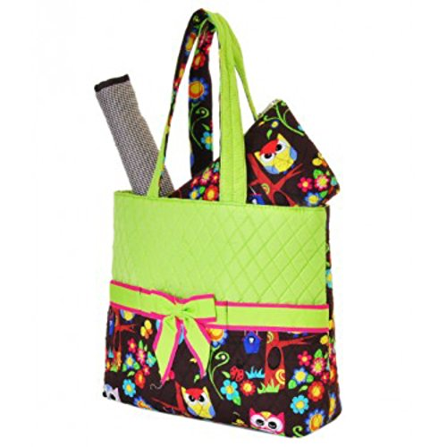 Quilted Monogrammed Diaper Bags