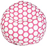Majestic Home Goods Bean Bag, Hot Pink Large Polka Dot, Small